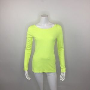 J. CREW NEON YELLOW THE PAINTER TEE